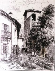 Gravure ancienne - Eglise Tassin