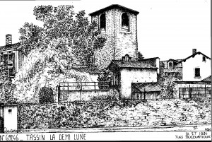 Gravure le prieuré
